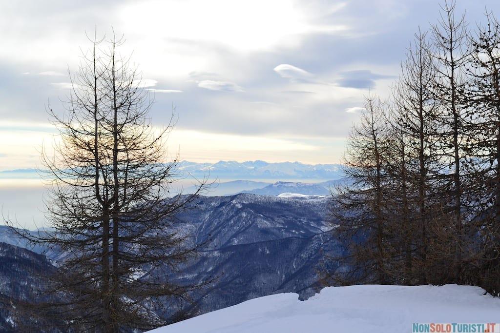 Salita ai rifugi della Val Chisone in inverno