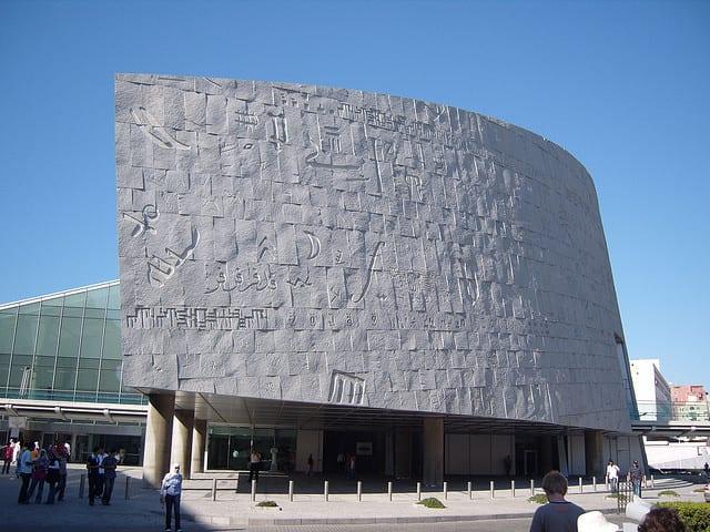 Risultati immagini per La biblioteca Alessandria (Egitto)