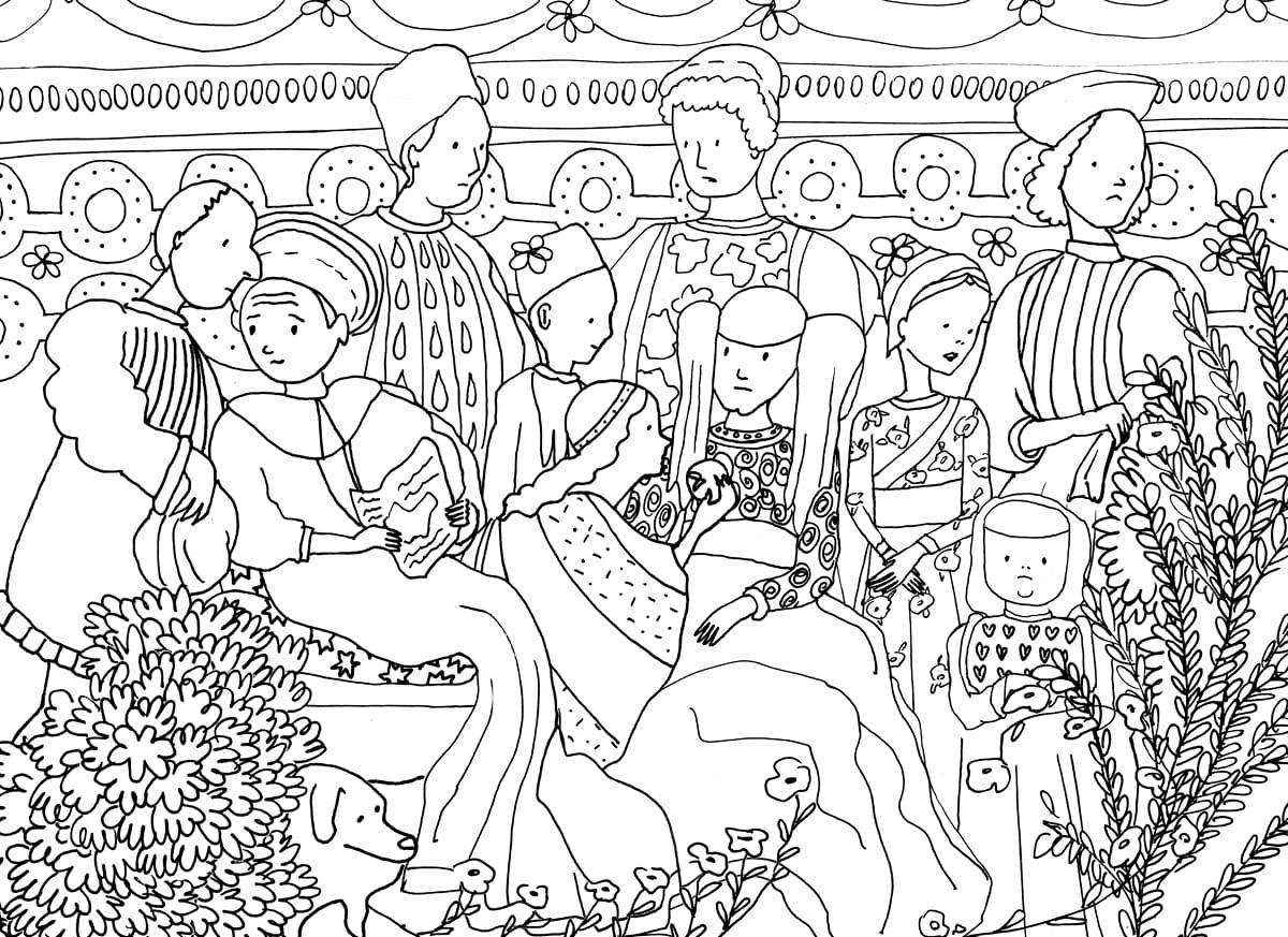 Mantova da colorare: una raccolta di illustrazioni su luoghi, paesaggi, edifici storici della città